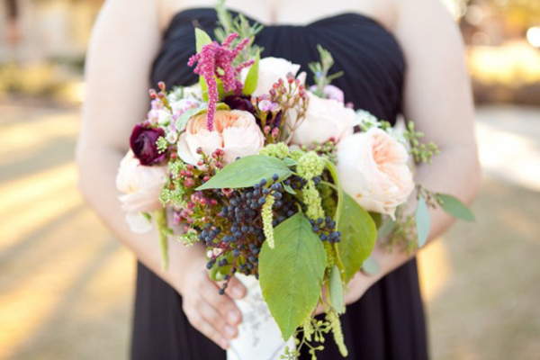 wild berry and flowers bouquet
