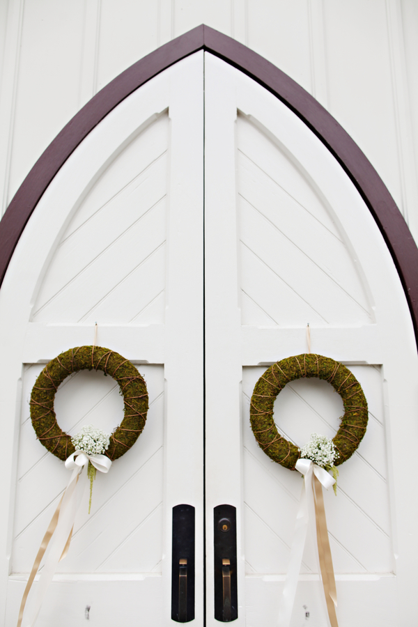 Arched Chapel Doors With Wreaths