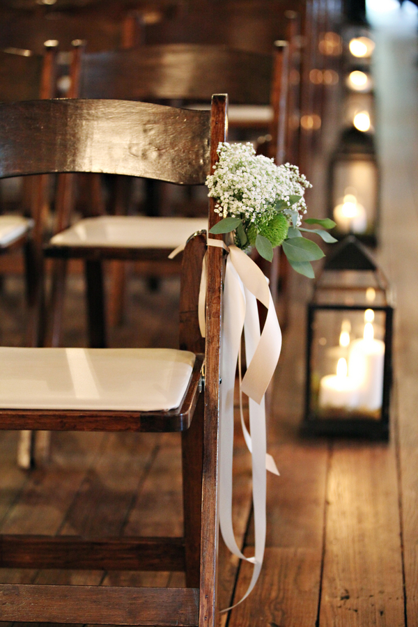 Babys Breath Ceremony Chair Decoration