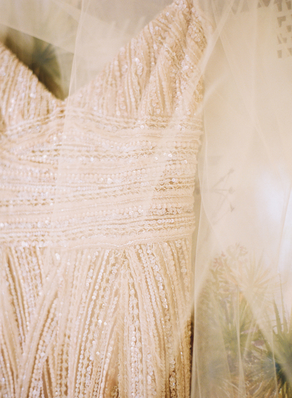 Beaded Spaghetti Strap Bridal Gown