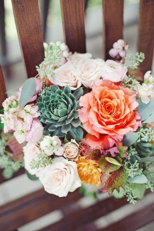 Berry Succulent and Rose Bouquet 1