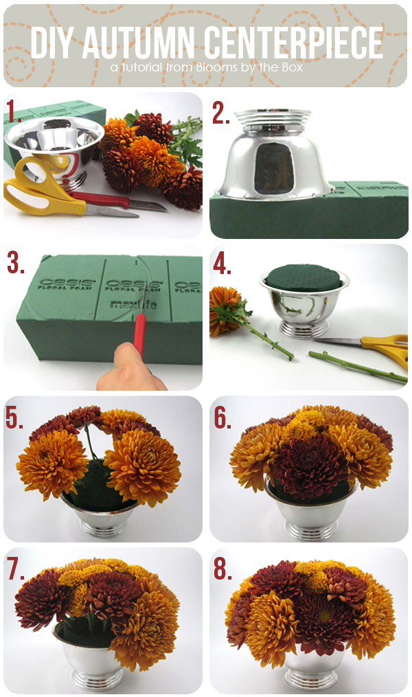 Stupendous Diy Autumn Centerpiece From Blooms By The Box Home Interior And Landscaping Transignezvosmurscom