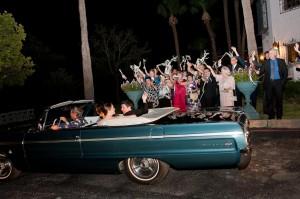 Blue Vintage Getaway Car