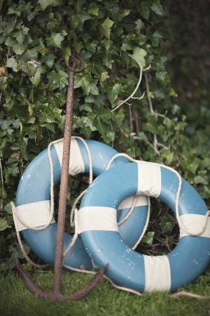 Blue Vintage Life Preservers