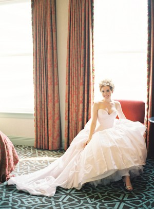 Blush Wedding Dress With Full Skirt