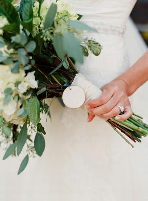 Bridal Bouquet Wrap Detail