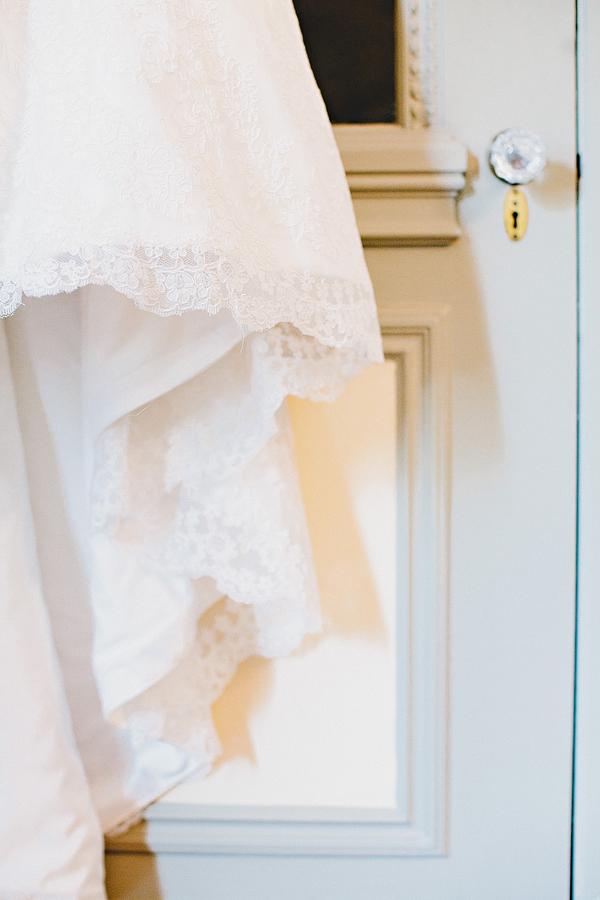 Bridal Gown Lace Trim Detail