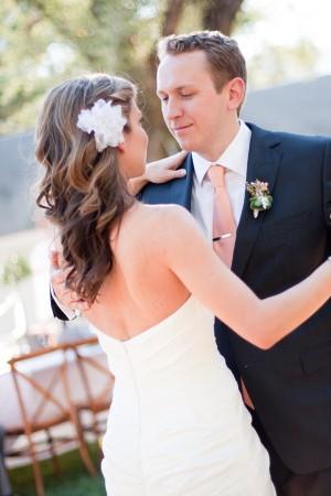 Bridal Hair With White Flower Hair Piece 1