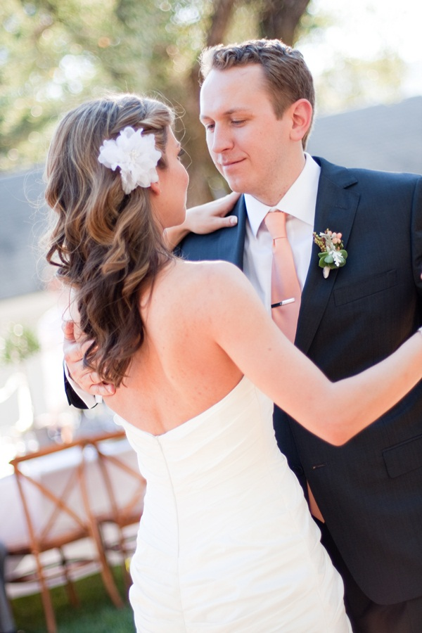 Bridal Hair With White Flower Piece 1
