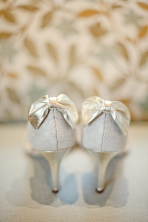 Bridal Shoes With Bow Detail on Heels