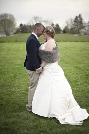 Bride Wearing Fur Stole
