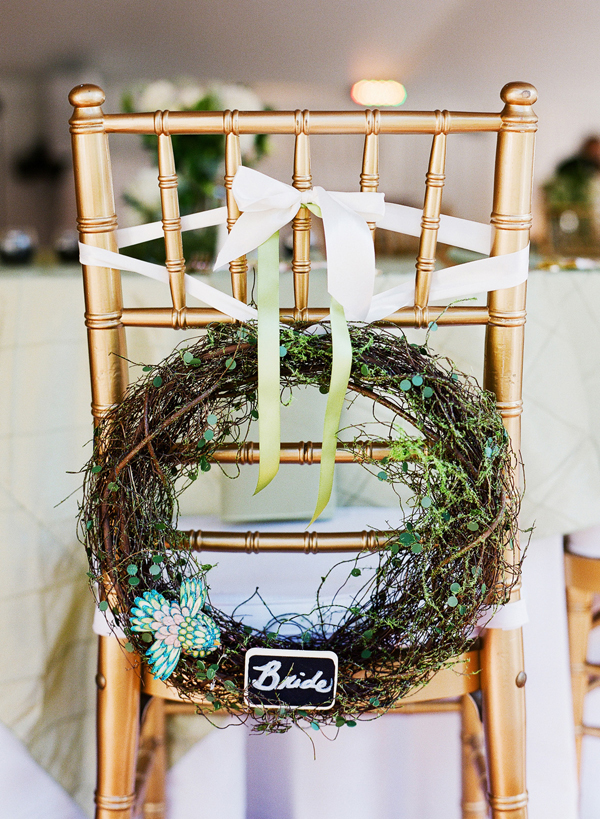 Bride Wreath for Reception Chair Decoration