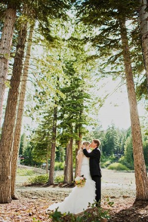 Bride and Groom Wedding Portrait by Sloan Photographers