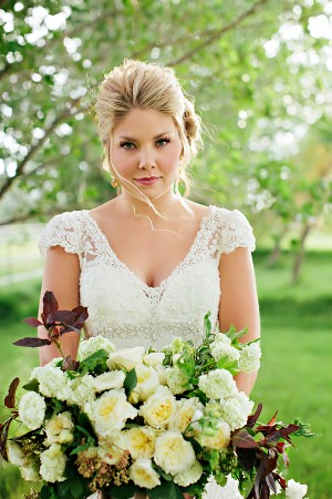 Cap Sleeve Lace Wedding Gown1