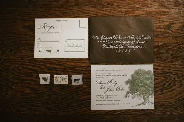 Chocolate Colored Wedding Stationery