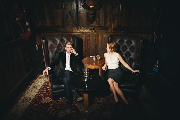Cigar Lounge Engagement Shoot