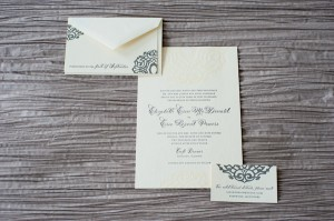 Classic Black and White Wedding Invitation Suite