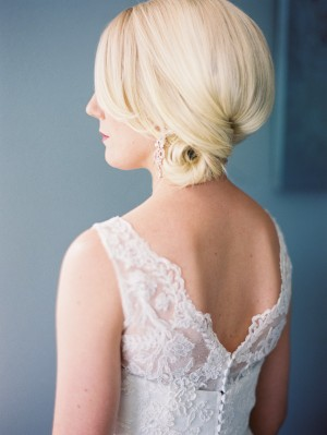 Classic Bridal Side Bun Hairstyle 2