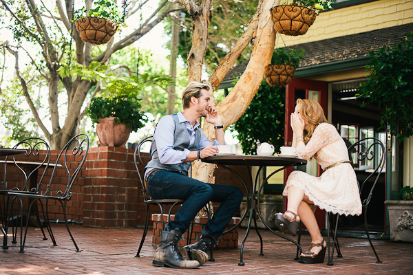 Coffee House Engagement Shoot
