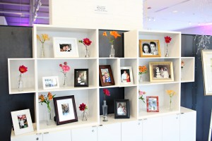 Couples Framed Photo and Floral Display