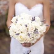 Cream Rose and Lavender Bouquet