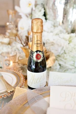 Custom Champagne Bottle Label