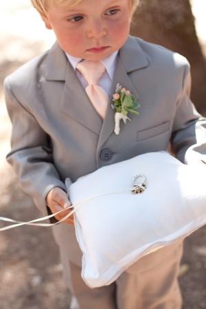 Elegant White Ringbearer Pillow
