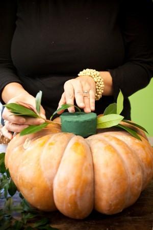 Fall Pumpkin Centerpiece