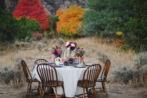 Fall Tablescape in the Woods