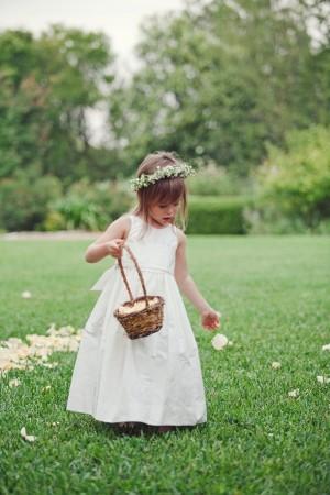 Floral Hair Wreath for Flower Girl