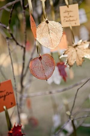 Gilded Leaf Escort Cards