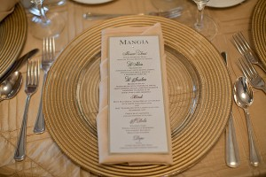 Gold Reception Place Setting