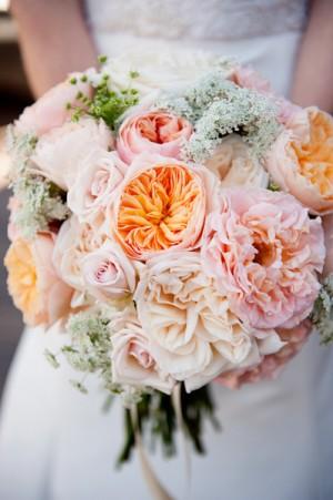 Gorgeous Pink Rose Wedding Bouquet