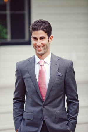Gray Suit With Dusty Rose Tie