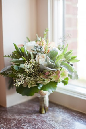 Green Bouquet With Dusty Miller