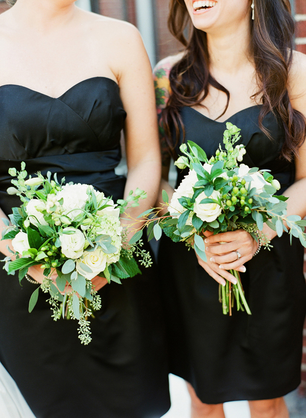 Green and White Garden Bouquets
