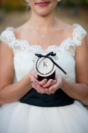 Jelly Jar Favor With Monogrammed Gift Tag