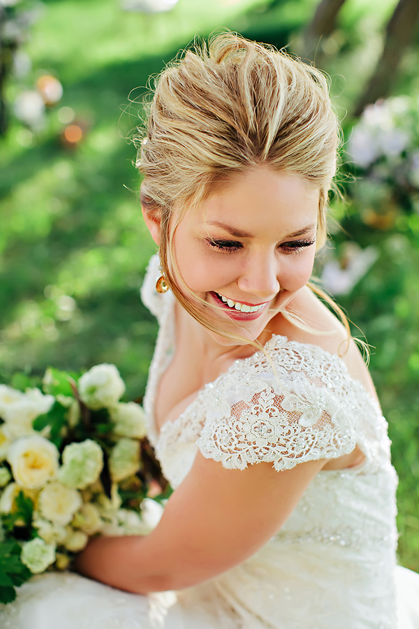 Lace Wedding Gown With Cap Sleeves1