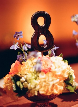 Lacquered Wood Table Number