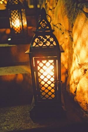 Lanterns on Stone Steps