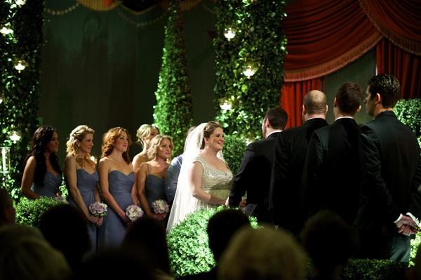Long Blue Gray Bridesmaids Dresses 1