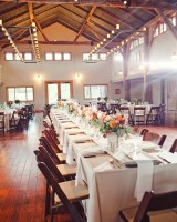 Long Rustic Reception Tables