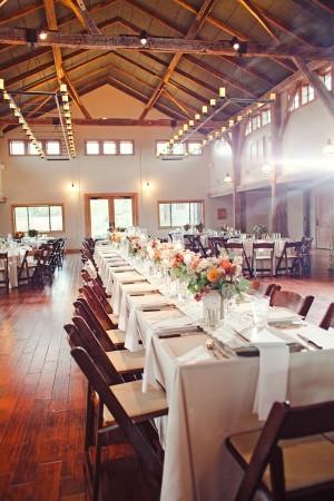 Long Rustic Reception Tables
