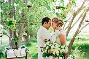 Lush Cascading Bouquet With White Flowers and Greenery1