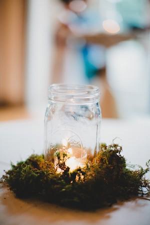 Mason Jar Candle Holder in Moss