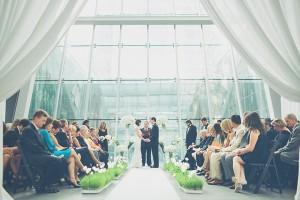 Modern Indoor Wedding Ceremony