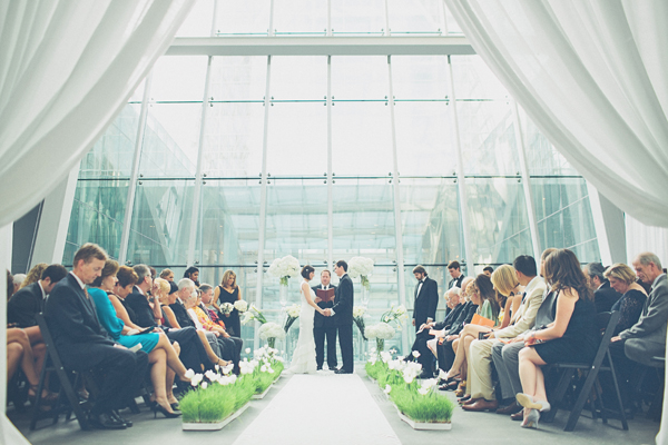 Modern Indoor Wedding Ceremony
