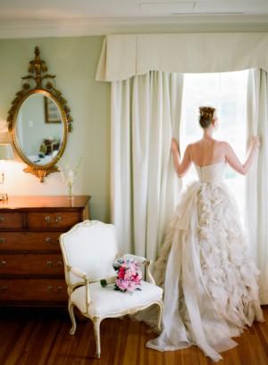 Multi Layered Ruffle Ivory Dress