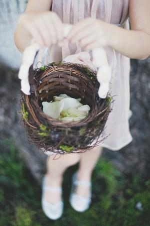 Natural Twig Flower Girl Basket