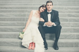 Orange Bridal Sandals